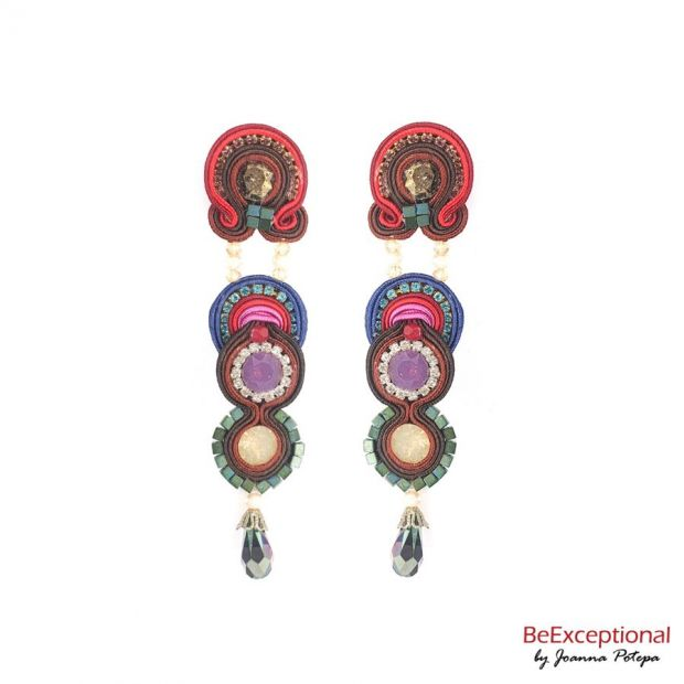 Hand embroidered earrings Andor L